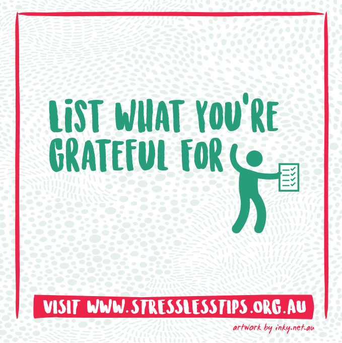 List what you're Grateful For
