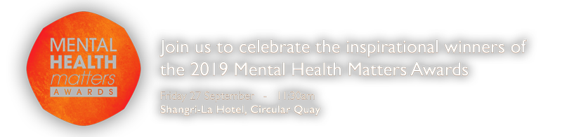 Join us to celebrate the winners of the Mental Health Matters Awards 2019