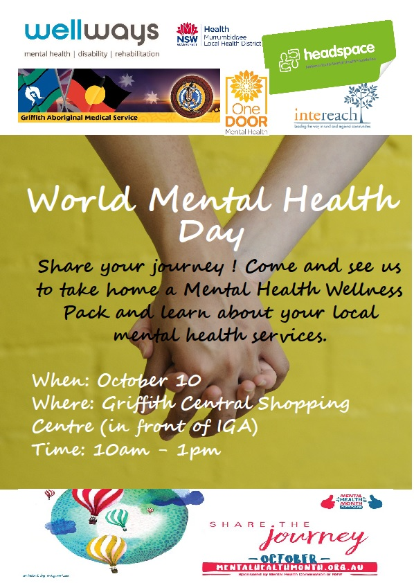 To Celebrate Mental Health Month And World Day On Tuesday 10 October Local Organisations Will Join Together Speak With
